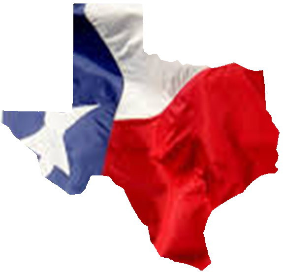 texas shape w flag